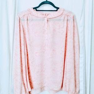 "NWT sz XL ""Dear Drew"" pink animal print blouse"